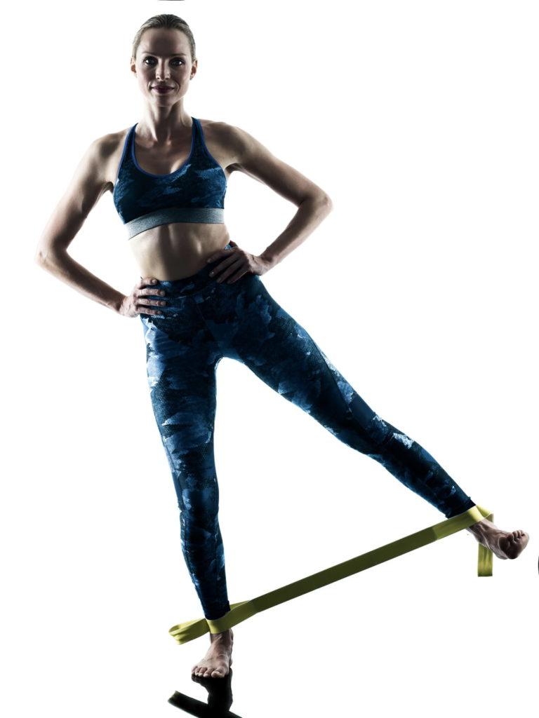 Exercice 10: Abduction de la hanche alternée avec élastique
