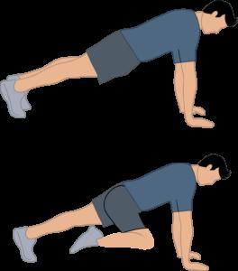 Exercice bras fermes Les moutains climbers