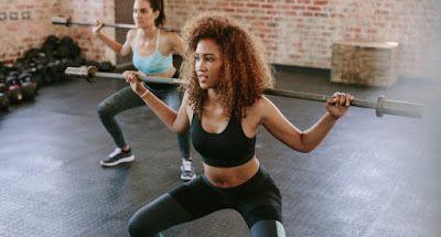 exercice fessiers 2 squat avec barre
